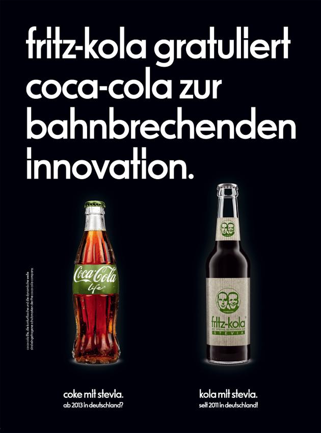 Fritz-Kola beglückwünscht Coca-Cola zu Coke Life