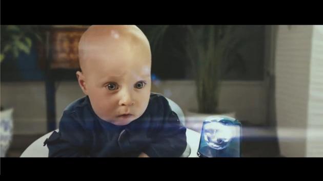 Cute baby vs. Motion Sync vacuum cleaner