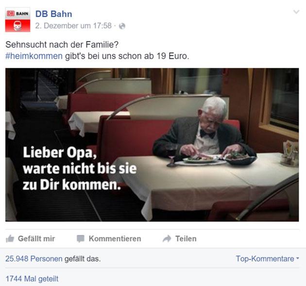 Screenshot: www.facebook.com/dbbahn